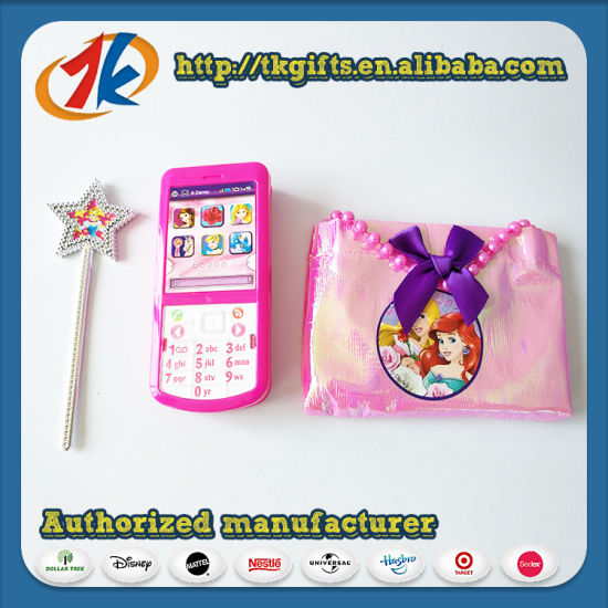 Hot Sale Plastic Mini Phone Toy with Magic Wand and Bag Toy