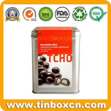 Rectangular Chocolate Tin Box for Metal Food Tin Packing pictures & photos