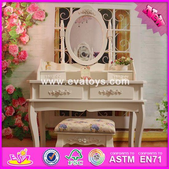 2017 Wholesale Fashion Wooden Bedroom Vanity, Solid Wooden Youth Bedroom  Vanity, Top Sale Wooden Bedroom Vanity W08h058