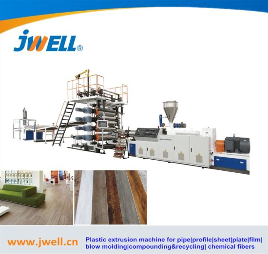 Plastic PVC WPC Vinyl Panel/Plank/Board/Sheet/Tile Flooring Production Machinery Spc Flooring Extruding/Extrusion/Extruder Making Machine