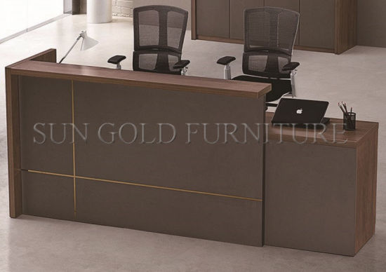Customized Wooden Used Reception Desk Front Counter Sz Rt101