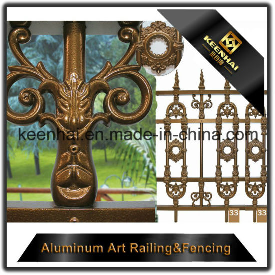 Aluminum Solid Metal Fence Panel for Garden Security with High Quality