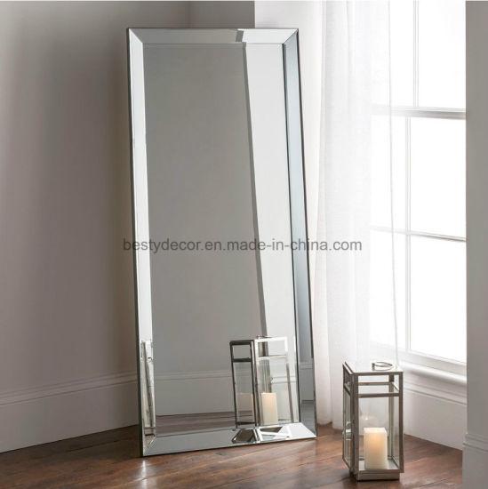 China Venetian Bevel Full Length Floor Wall Mirror Large China Mirror Wall Mirrors