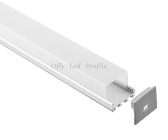 26X23mm Surface Linear Without Flanged LED Aluminum Profile pictures & photos