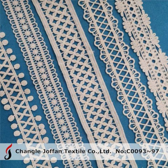 Water Soluble Lace Embroidered Chemical Lace Trim Guipure Lace (C0093)