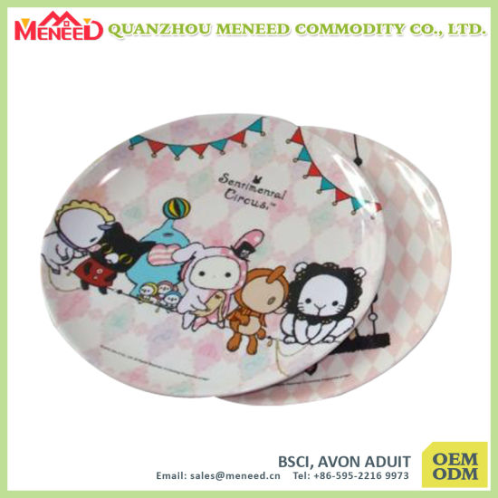 Round Shape Custom Print Melamine Plate Wholesale pictures & photos