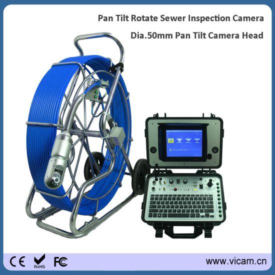 Sewer Camera For Sale >> China Cctv Rotating Camera 60m Push Rod Pan Tilt Drain Sewer Pipe