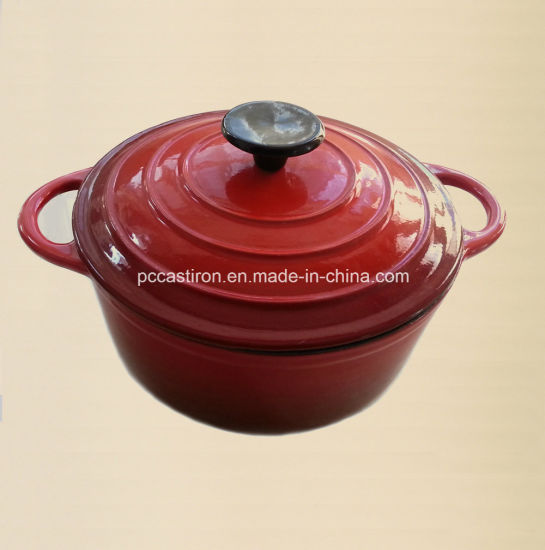 7qt Enamel Cast Iron Stock Pot Ce Approved Factory China pictures & photos