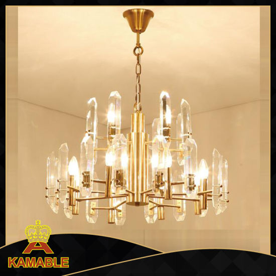 China Luxury Home Decoration Crystal Pendant Lighting Kap17