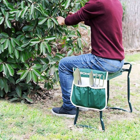 Excellent Garden Kneeling Bench Foldable Kneeler Stool Soft Cushion Seat Pad With Tool Pouch Cjindustries Chair Design For Home Cjindustriesco