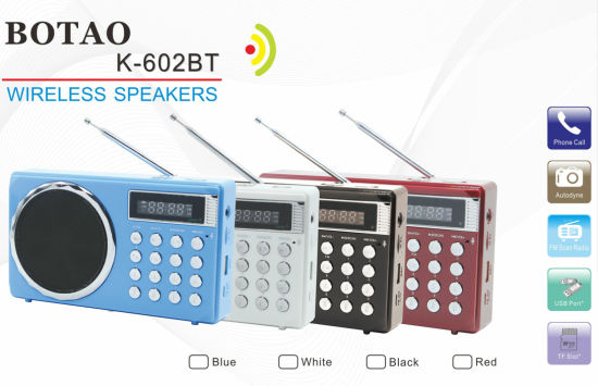 2017 Newest USB Radio with Bluetooth Loudspeaker SD/TF Slot pictures & photos