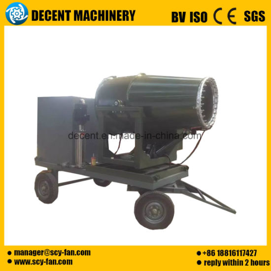Site Environmental Fog Gun Machine Dust Removal Dust Suppression Spray Machine Air Delivery pictures & photos