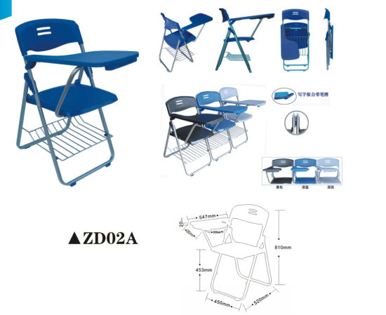 Simple Cheap Folding Chair for Study with Writing Board pictures & photos