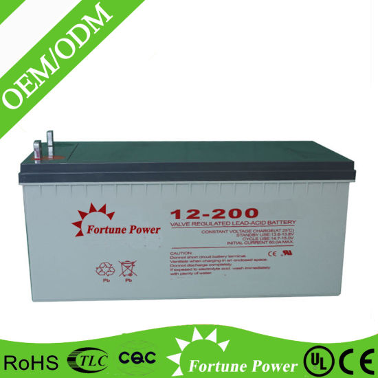 24 Volt Marine Battery >> Fortune Power Battery Agm Marine Battery 12v 24 Volt 200ah With Iso Ce Rohs Certificate