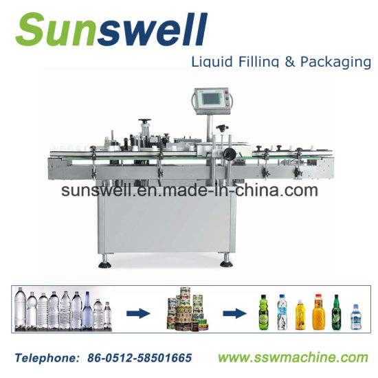 PVC Shrink Sleeve, BOPP Hot Glue Melt, Paper Self Adhesive Labeling Machine pictures & photos