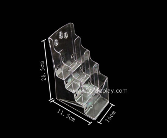 Clear Acrylic A6 4 Tires Brochure Stand Manufacturer Btr-H6312-3