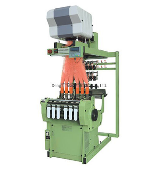High Speed Flat Head Jacquard Loom, Patterned Eastic Tap Band Weaving Machine