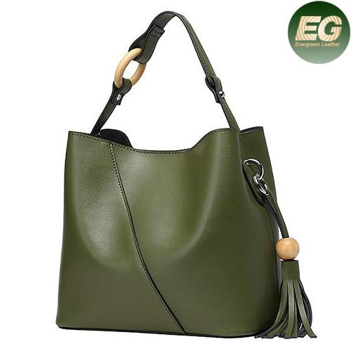 Cowhide Leather Lady Handbag Fashion Tote Bag Wholesale Emg4855