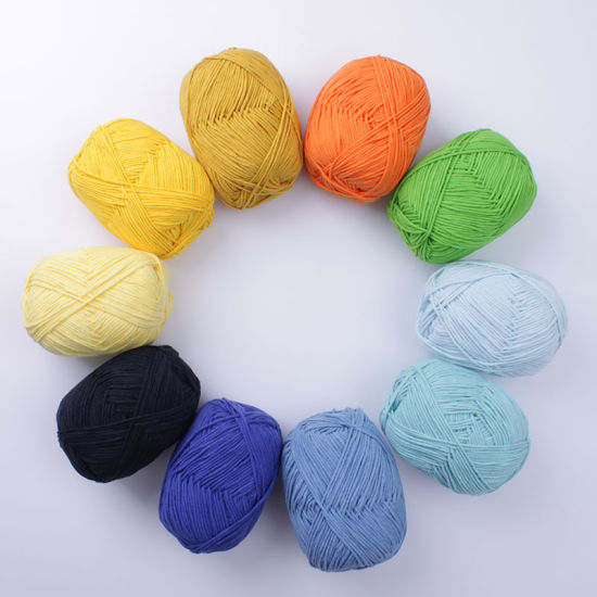 High Quality Milk Cotton Yarn for Hand Knitting Crocheting pictures & photos