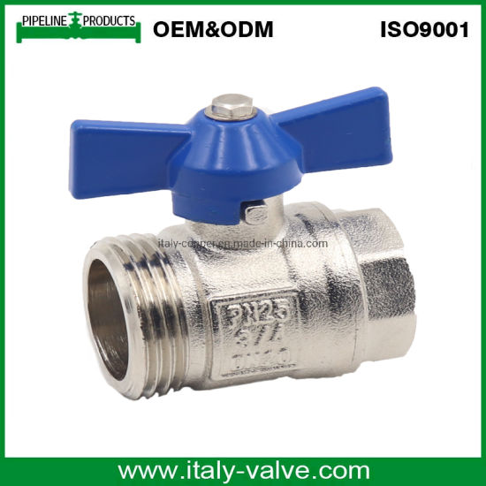 with a Butterfly Handle Brass Ball Valve Full Bore Male X Female Threaded Fitting