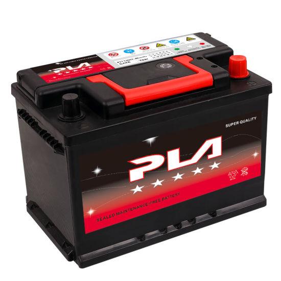 12V 72ah DIN Standard Sealed Lead Acid Storage Rechargeable Car Battery