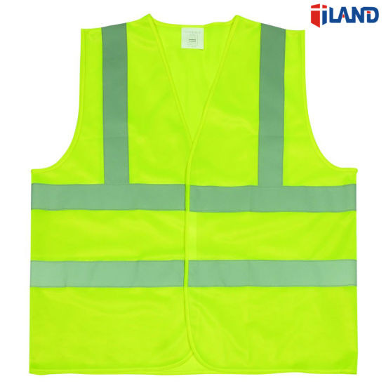 Safety Vest Mesh Vest Traffic Fluorescent Breathable Adjustable Pvc Tape Security & Protection