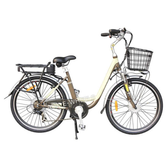City Lady Aluminium Alloy Lithium Battery Electric Bicycle (TDE-038A)