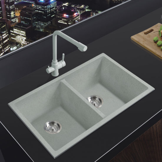 [Hot Item] 8147 American Standard Embedded Granite Quartz Stone Wash Basin  Kitchen Sink