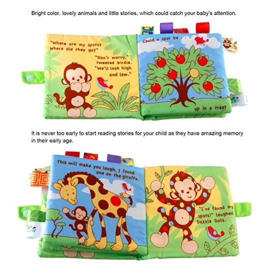 Plush Soft Books For Babies 4 Packs Fabric Crinkle Activity Soft