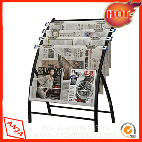 Metal Wall Mounted Wire Magazine Rack For Office