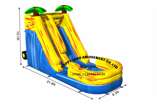 Summer Swim Pool Giant Inflatable Water Slide with Cheaper Price pictures & photos
