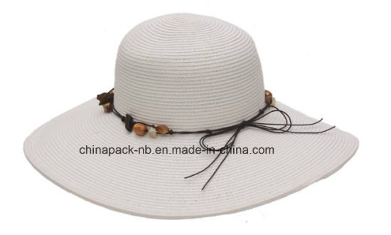 c8c1cb4b3 China Wide Brim Straw Hats with Beads Boardwalk Style (CPA_90008 ...