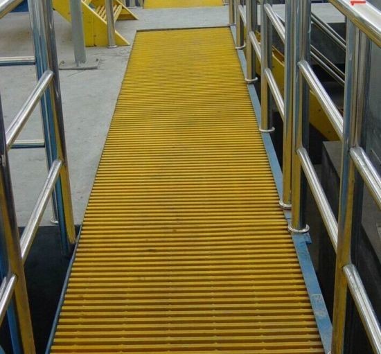 Fibetglass Walkway Pultruded Grating, Pultrusion Grating