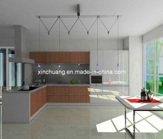 Modern Design High Gloss Pet Coated Mdf Sheet For Kitchen Cabinet Door
