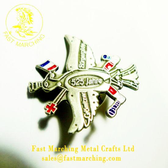 china cheap metal wing 3d magnet scout pilot awards badge maker