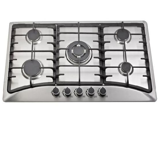 Cheap Price 5 Burner 201 Stainless Steel Cooktop Gas Stove