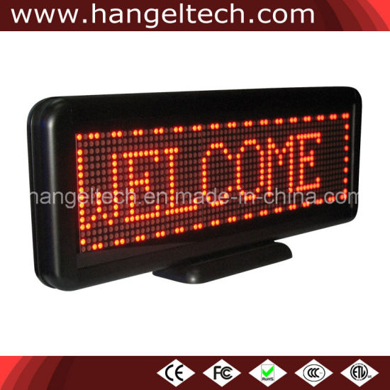 16X64 Pixels Small Size LED Moving Display Sign