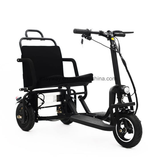 3-Wheel Midsize Fully Foldable Scooter with Fashion Style