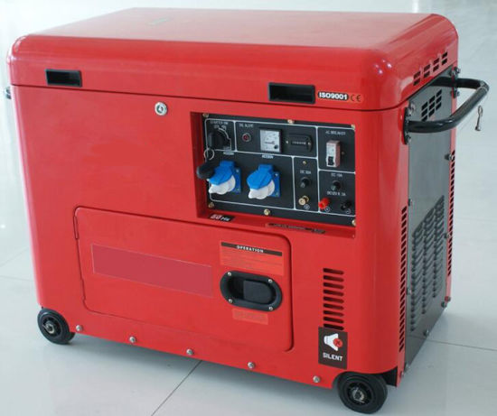Electric Power Silent Portable Diesel Generator (5.5kw) pictures & photos