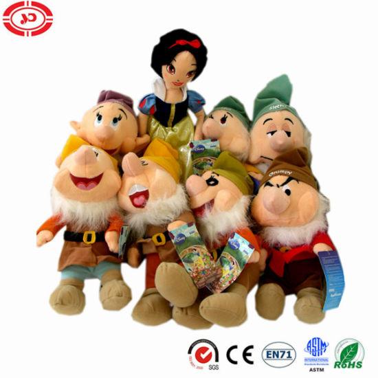 07 Dwarves with White Snow Princess Soft Stuffed Plush Toys