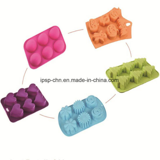 Round Silicone Mould Sheet with 6 Molds