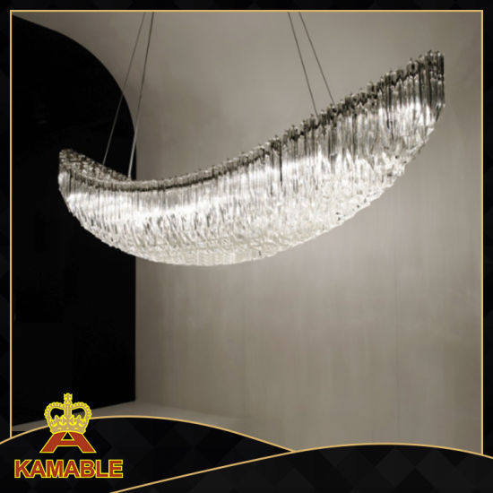 Hotel Chandelier Customized Decoration Crystal Glass Pendant Lamp (139993)