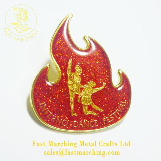 China Custom Personalized Logo Grill Enamel Poppy Pin Awards