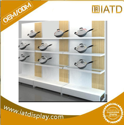 Stainless Steel Wire Multi-Function Store Chinese Supermarket Metal Retail Display  Wardrob Shelf pictures & photos