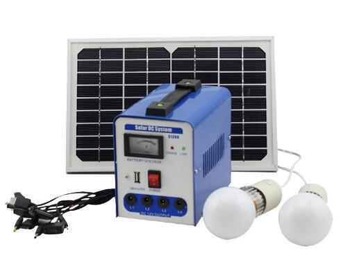 Mini 6W DC Solar Energy Power System Lighting Kits with Charge for Home Camping pictures & photos