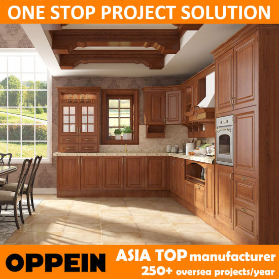 China Oppein Transitional PP Eco-Wood Kitchen Cabinet (OP15-PP02 ...