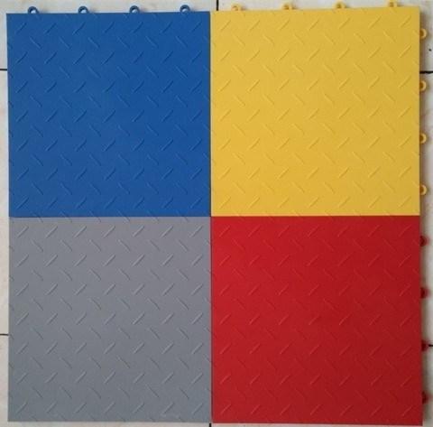 Popular Plate Plastic PVC Flooring in Different Colors; Garage Tile Vinyl Flooring