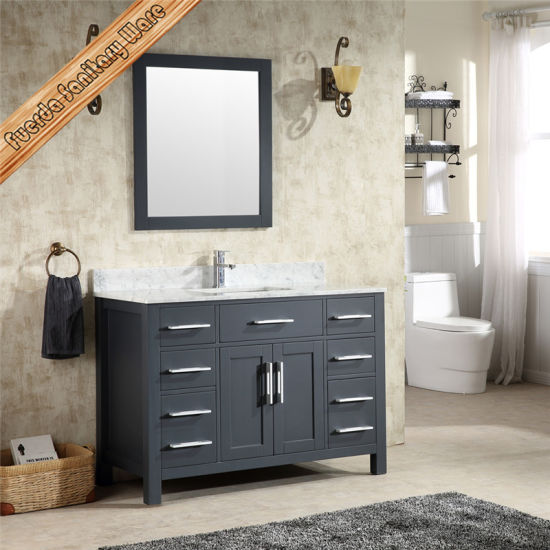 China High Quality Modern Solid Wood Bathroom Vanities
