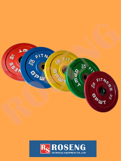 Color Rubber Barbell Discs for Gym