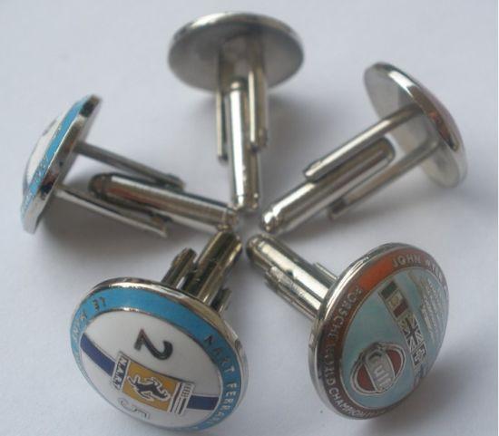 High Quality Metal Cufflinks, Soft Enamel with Epoxy, Hard Enamel